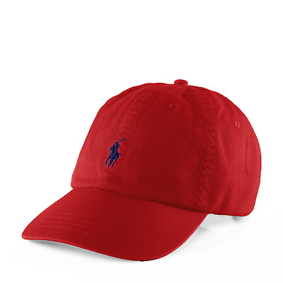 Ralph Lauren Baseball Cap In Red With Small Navy Pony - Adults - One Size