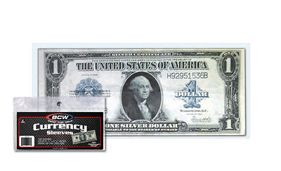 10 Large Dollar Bill Currency Sleeves - Money Holders - Protectors #07