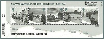 2019 Autumn Stampex D-DAY Mini Sheet OVERPRINT Limited Edition Of 7500 Issued