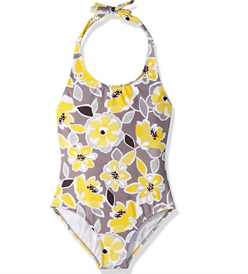 Gymboree Little Girls' 1-Piece Swimsuit Floral Print XS (4)