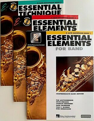 Essential Elements for Band Book 1 with EEi Eb Alto Saxophone Band Boo 000862572