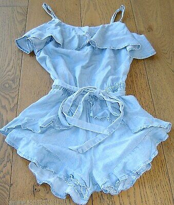 Seed Teen Girls Chambray Shortie Playsuit  Sz 12