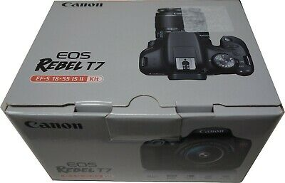 Canon EOS Rebel T7 24.1MP Digital SLR Camera with EF-S 18-55 IS II Lens Kit USA