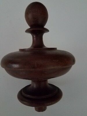 Antique large walnut finial  (#51)