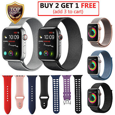 For Apple Watch Band Series 5/4/3/2/1 44mm 42mm 40mm 38mm Milanese Nylon Sport