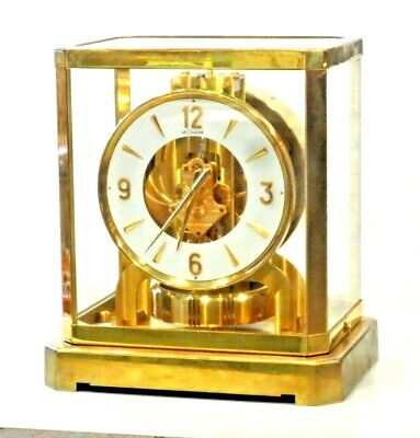 JUST CLEANED SERVICED 1960's JAEGER LECOULTRE 528-6 ATMOS CLOCK #143,000 WORKING