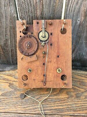 Antique American Wooden Works Shelf Clock movement, Parts / Repairs.
