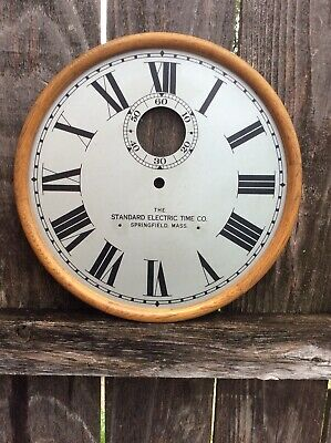 Antique Standard Electric Time Co. Battery Wall Clock Dial.