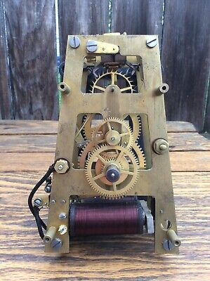 Standard Electric Time Co., Battery Electric Wall Clock Movement, Parts / Repair