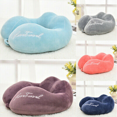 Memory Foam U-shaped Neck Support Pillow Cushion Travel Air Plane Sleep