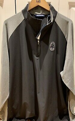 "Nwt Men Cutter & Buck ""Bethpage State Park Black Course"" Half Zip Jacket Xxl"