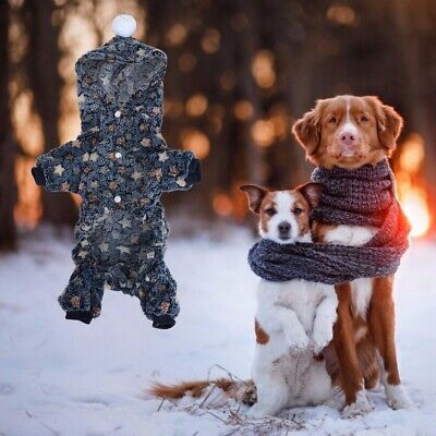 Winter Pet Hoodies Clothes Jumper Suit Warm Sleepwear Cute Pattern for Dog Cat