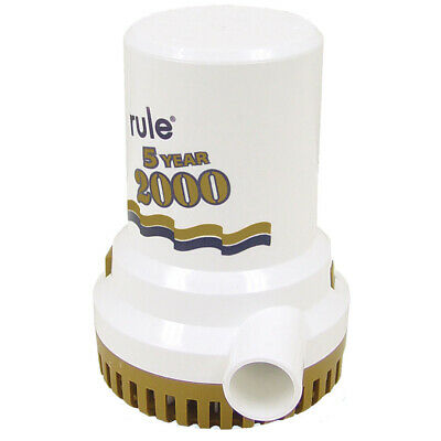 "Rule 09 2000 G.P.H. ""Gold Series"" Bilge Pump"