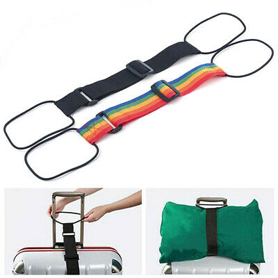 Adjustable Add A Bag Strap Travel Luggage Suitcase Belt Carry On Bungee Tool