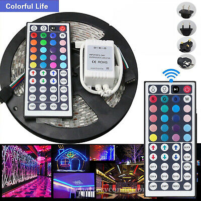 5M 5050 Smd Rgb Led Strip Lights Colour Changing Tape Kitchen Lighting 1M