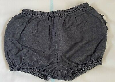 First Impressions (Macys) Baby Girls Chambray ruffle back shorts bloomers Size 2