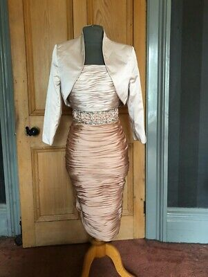 Beautiful Veni Infantino Mother Of The Bride/Evening Dress And Bolero, Size 14