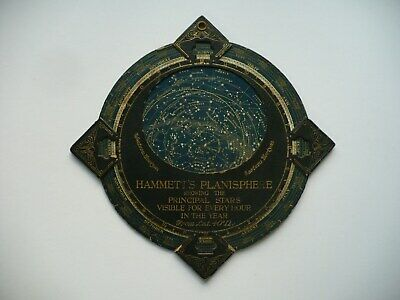 Scarce Circa 1900 Hammett's Planisphere Showing Principle Stars, Cambridge, Mass