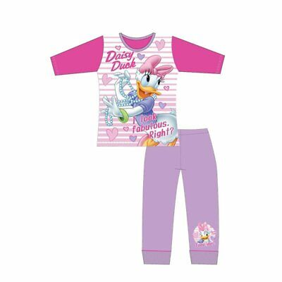 Girls Disney  Daisy Duck Long Sleeve Pyjamas pjs  Children  Age 4 to 10 Years