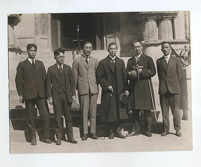 RARE 6.5x8.5 1927 delegation PHOTOGRAPH Chinese OF COnference Armament CHINA