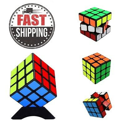 UK Kids Fun Rubiks Cube Toy Rubix Mind Game Classic Magic Rubic Puzzle 3x3x3