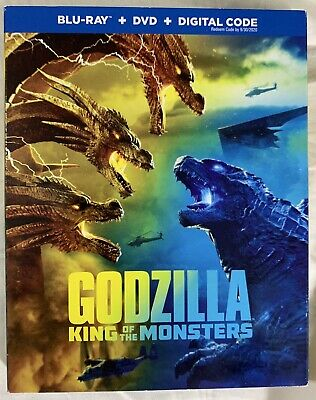 Godzilla: King of the Monsters (Blu-ray/DVD) w/ Case & Slipcover **LIKE NEW*