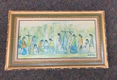 Vintage ~ DeGrazia ~ Wooden  Frame ~ Canvas ~ Huge