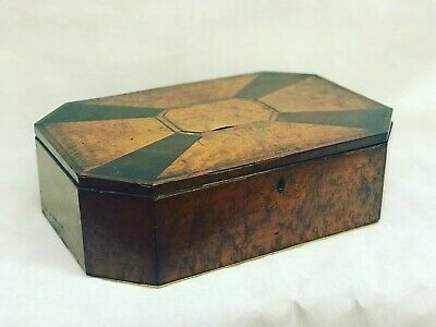 Georgian Burr Walnut Or Maple Inlaid Antique Box