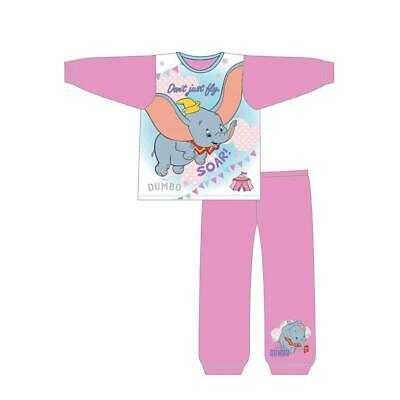 Girls Disney Dumbo Long Sleeve Pyjamas pjs Baby Toddler Age 12 mths to 4 Years