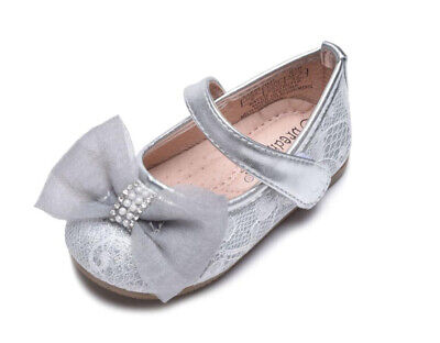 Girl/'s Wedding Party Shoes Sparkling Metallic Silver or Gold Color Toddler size