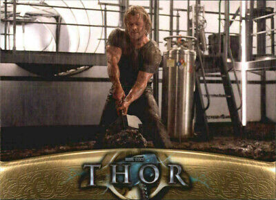 MARVEL'S THOR: MOVIE BASE SET TRADING CARD #49 Finding the hammer, Thor feels
