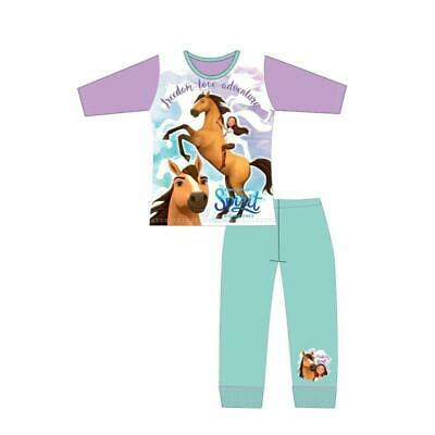 Girls Kids Spirit Riding Free Horse Long Sleeve Pyjamas pjs Age 4-10 Years