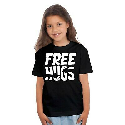 T-shirt ENFANT FILLE FREE HUGS , CÂLIN GRATUIT