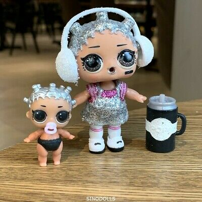 LOL Surprise Doll HOLIDAY BLING BEATS BABY & Lil Dolls GLITTER BABE Set Gifts