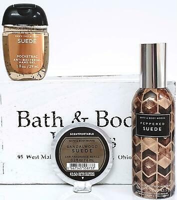 Bath and Body Works Peppered Suede Room Spray, Scentportable & Suede PocketBac