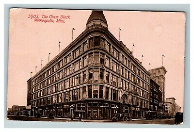 The Glass Block, Minneapolis MN c1912 Postcard F27