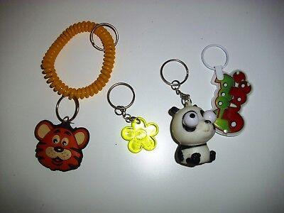 Keyrings key chains x 4 to suit a girl