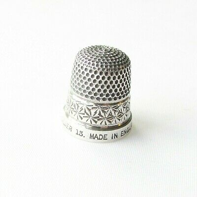 Vintage solid silver sterling The Spa thimble