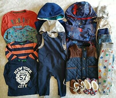 Boys Bundle 12-18 Months Inc Coat Gilet Hoodies Jeans Tops Boots Etc