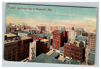 Vintage Bird's-Eye View of Minneapolis MN c1913 Postcard F28