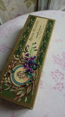 Sweet Vintage French Roger & Gallet Paris Soap Box Savon Violette