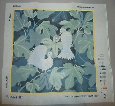 EHRMAN vintage DOVES PANEL by MARGARET MURTON - TAPESTRY NEEDLEPOINT KIT - RARE