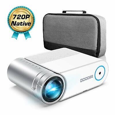 """Mini Projector, 1080P Full HD Video Projector 3800 Lux with 50k Hrs,200"""" Theater"""