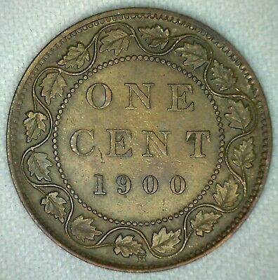 1900 H Victoria Large Cent Copper Canada One Cent You Grade KJ6