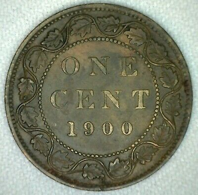 1900 H Victoria Large Cent Copper Canada One Cent Extra Fine KJ7