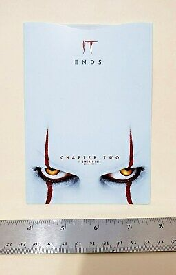 Stephen King IT Chapter 2 (2019) RARE Promo SWAG Sheet Mask Pennywise