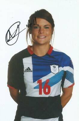 TEAM GB & ENGLAND LADIES* CLAIRE RAFFERTY SIGNED 6x4 LONDON 2012 PHOTO+COA
