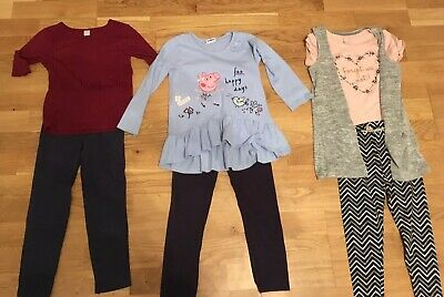 Girls Bundle Of Three Outfits. Tu George Peppa Pig. Age 5 Years.