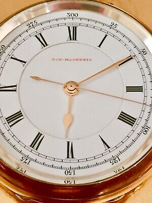 Superb Non Magnetic Sterling Silver Serviced Accurate Watch Gold Hand No Reserve