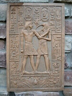 Egyptian Thoth Thot Protecting Seti I Tomb Artifact Sculpture Statue 17""